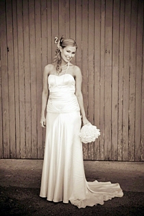 Jayne - silk satin crepe - Christchurch bridal