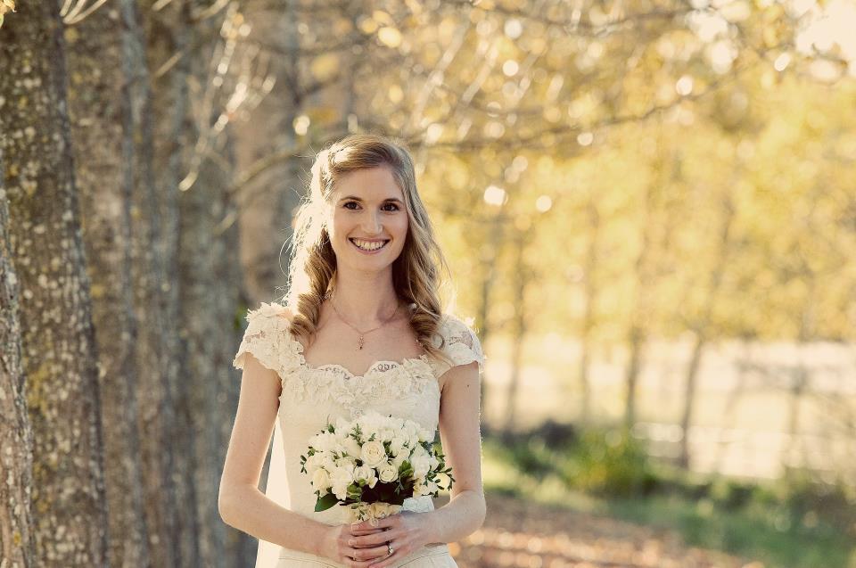 Justine - silk satin crepe, silk tulle, vintage lace - Christchurch bridal - Tracey Allsopp