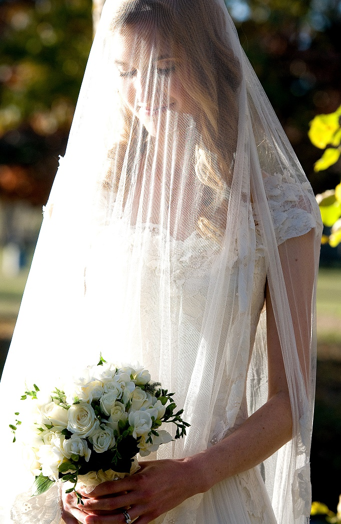 Justine - silk satin crepe, silk tulle, vintage lace - Christchurch Bridal - Tracey Allsop Photography