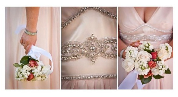 v - silk charmeuse, beaded trim - Christchurch bridal - Tandem Photography