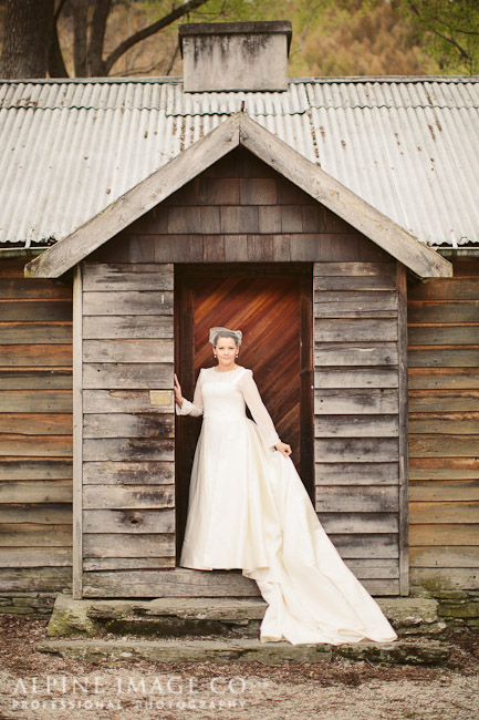 silk mikado - Queenstown Bridal - Alpine Image Company Photography