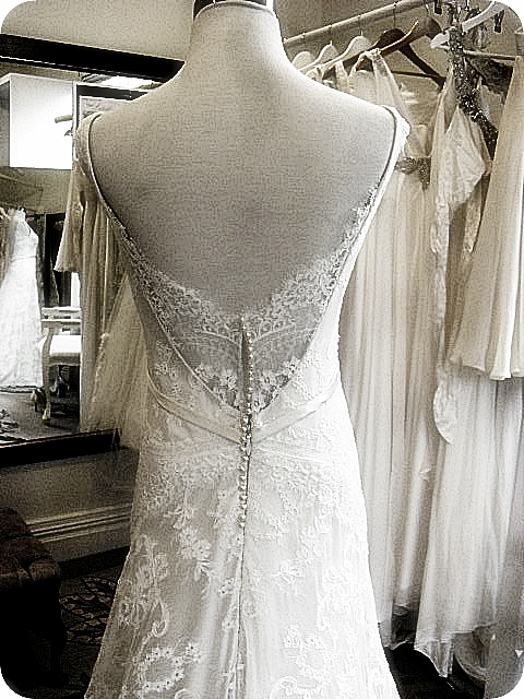 Sarah - silk satin crepe, corded lace - Christchurch bride - in house picture