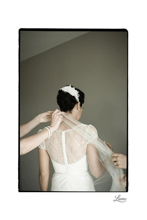 Rebecca - charmeuse silk, lace - Christchurch Bride - Lumo Photography