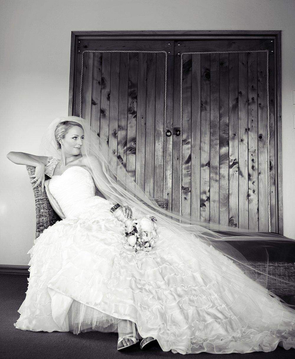 Sarah Hall - silk dupion, silk chiffon - Hanmer Springs Bride