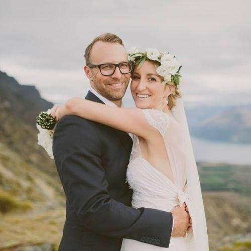 foley wedding - silk satin, silk chiffon - Queenstown bridal - rich bayley photography