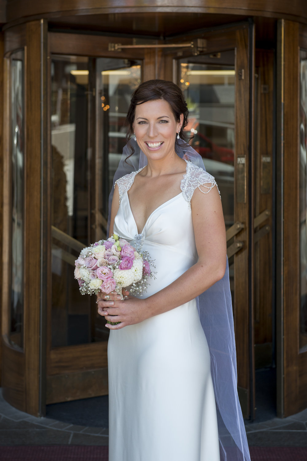 v - silk gwendolynne gown - Oamaru wedding