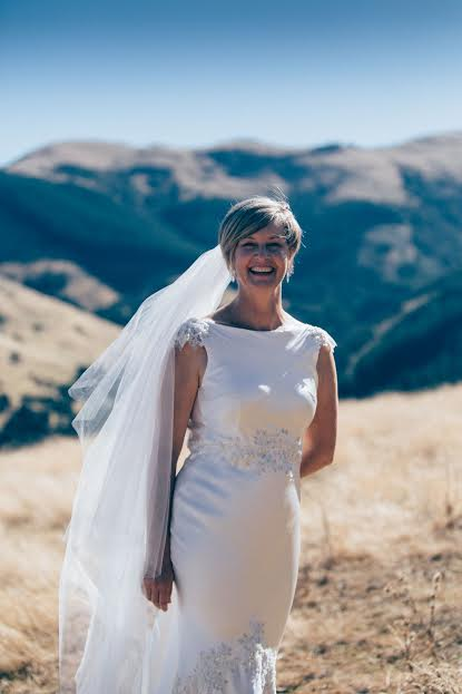 Lorna - silk satin crepe - Christchurch wedding