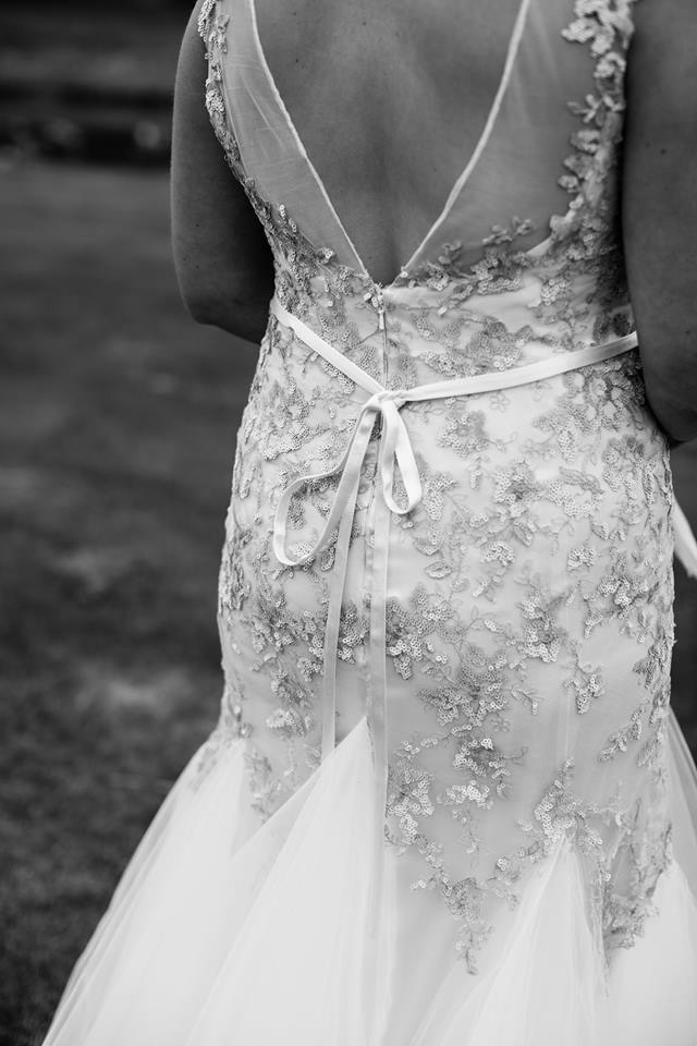 Sophie - Heavy silk satin crepe, appliqued lace, tulle - North Canterbury Bride - Bellbird Photography