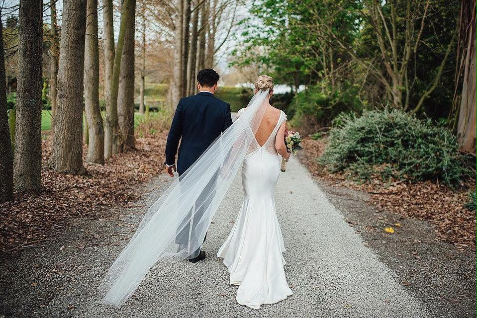 Kate - heavy silk satin crepe, french lace, beaded lace trim - Christchurch bride - Sarah Clements Photography