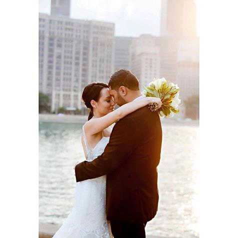 Sarah - crepe de chine, tulle, lace - Chicago USA bride