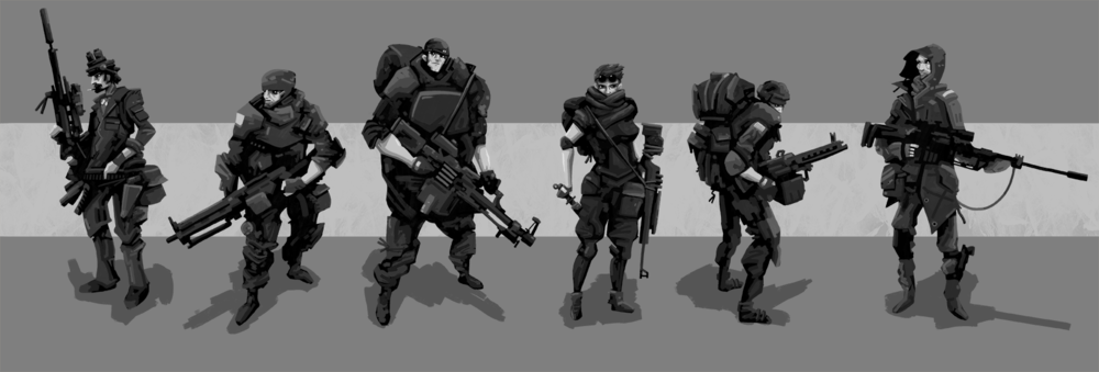 Elite Combat Squad - 2015 Commissioned Character Design Lineup