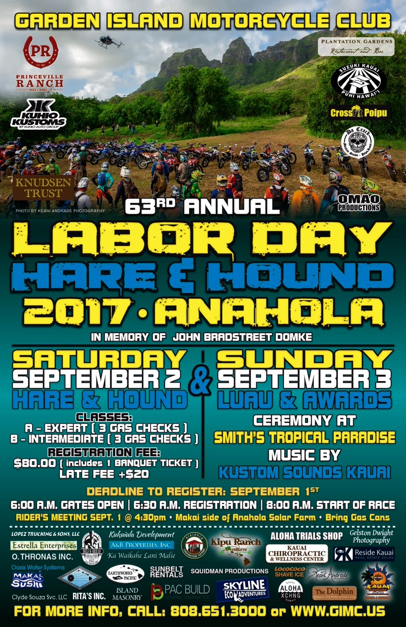 63rd Annual Kauai Labor Day Race
