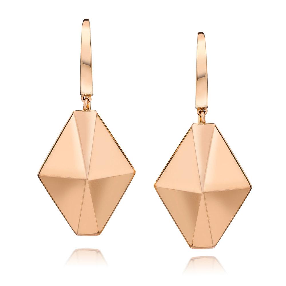 Walters Faith Sydney 18K Diamond Origami Drop Earrings OXW3xm