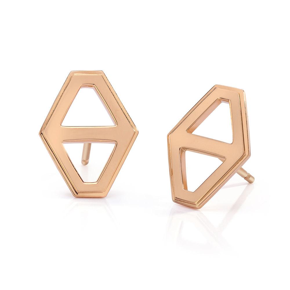 Walters Faith Keynes Signature Hexagon With Diamond And Garnet Earrings 5D86oAfyJ