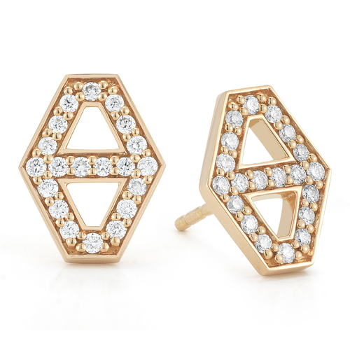 in diamond jewelry halo jacket earrings stud white earring round gold