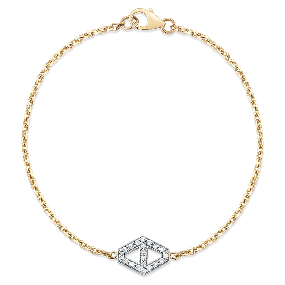 Walters Faith Keynes 18K Diamond And Sapphire Signature Hexagon Necklace tm5py0v