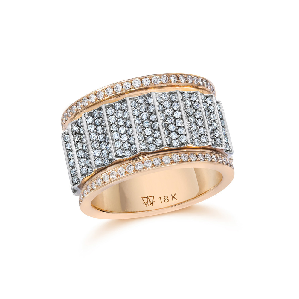 Walters Faith Clive Two Tone 10Mm Fluted Band Ring r6ceknW