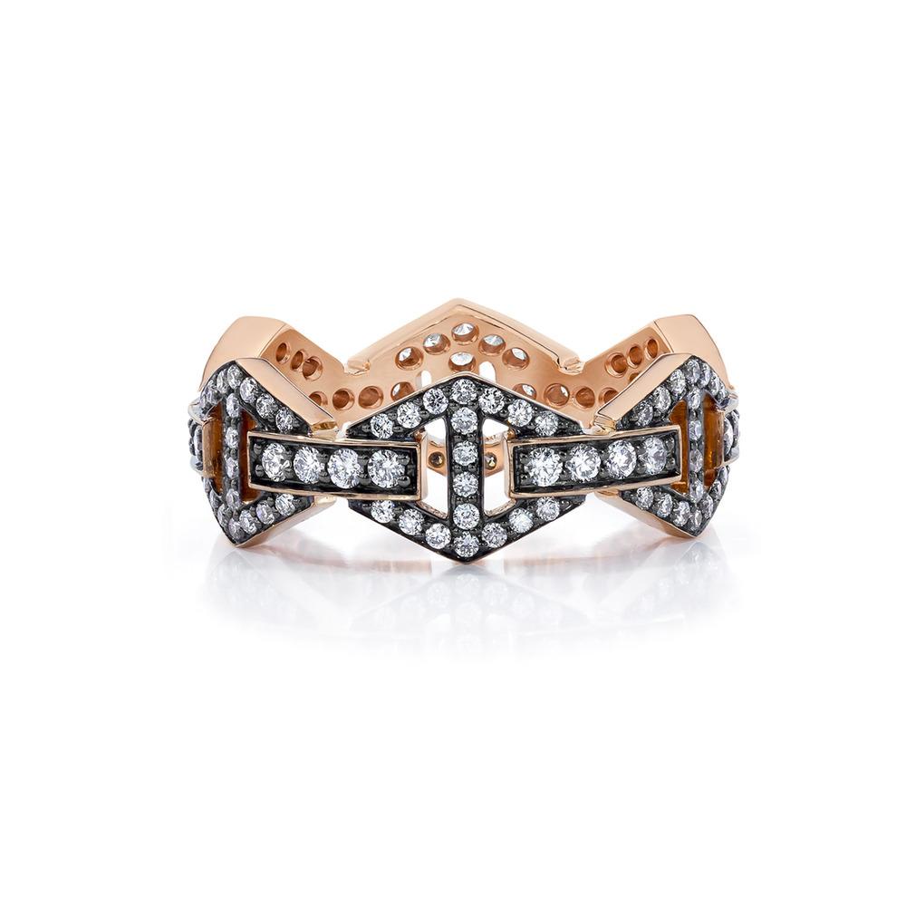 Walters Faith Keynes 18K Large Signature Sapphire Hexagon Ring pusVB6yA6I