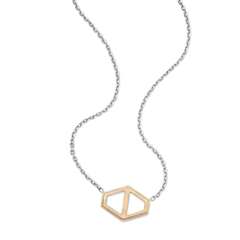 Walters Faith Keynes 18K Large Signature Hexagon Pendant Necklace DbEgNwD4SD