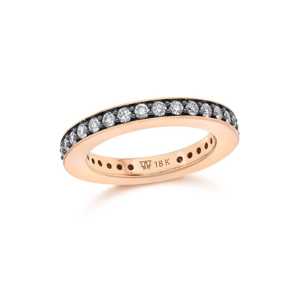 Walters Faith Grant Two Tone 3Mm Diamond Sapphire Band Ring WFIdJt4aTG