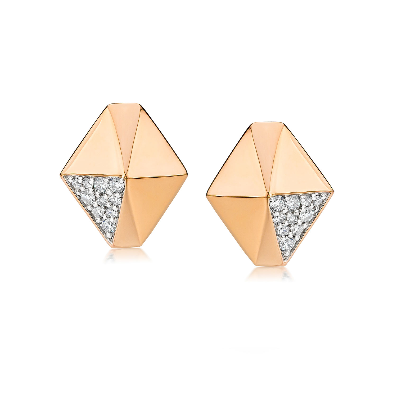 Walters Faith Sydney 18K Diamond Origami Drop Earrings E7Czkl