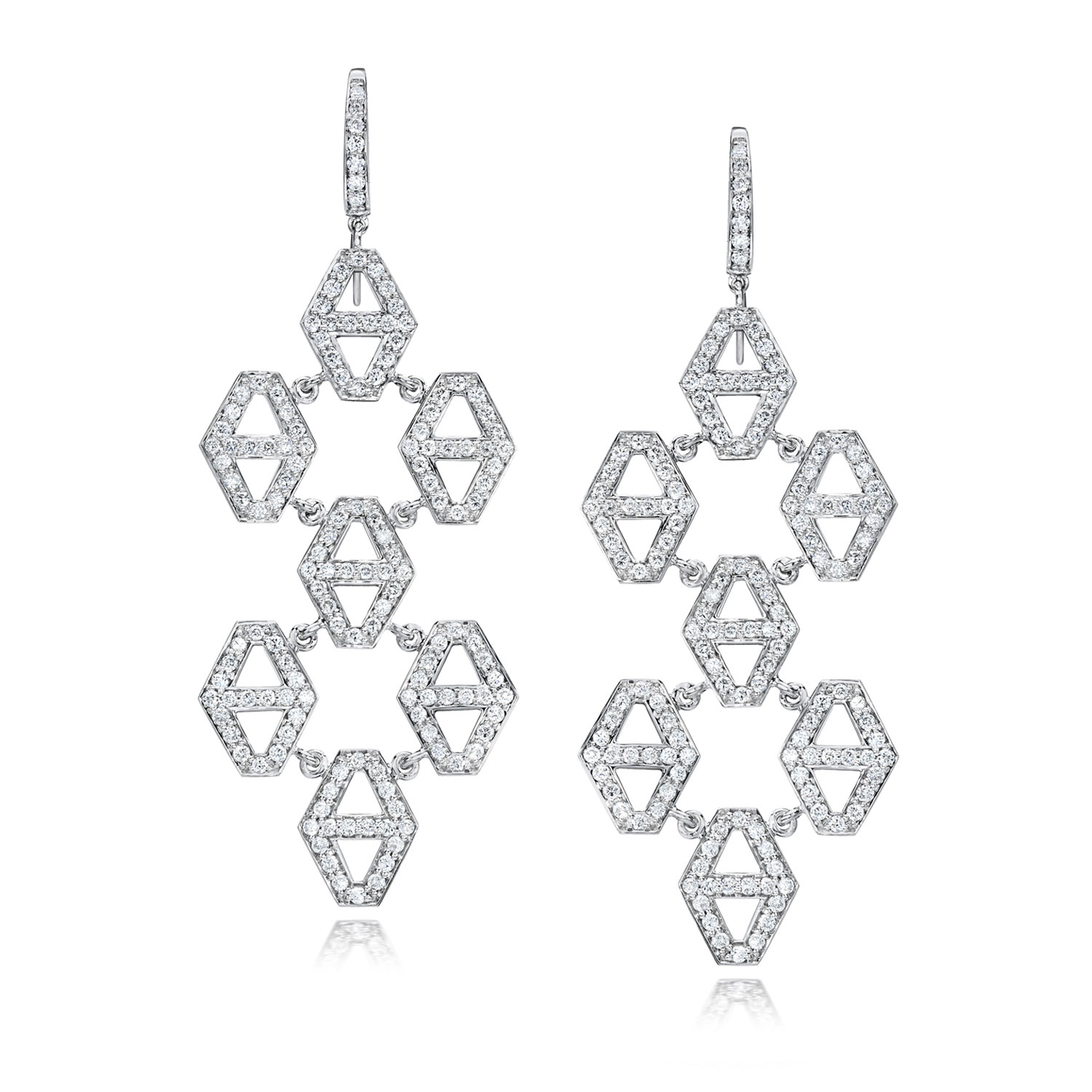 Walters Faith Keynes Seven Drop Signature Hexagon Chandelier Earrings PjdStCBqbS
