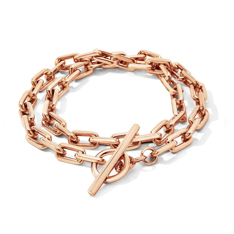 Walters Faith Saxon 18K Elongated Chain Link Bracelet With Double Diamond Links AlZizlaS