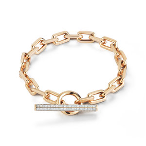 Walters Faith Saxon Two Tone Double Wrap Chain Link Toggle Bracelet