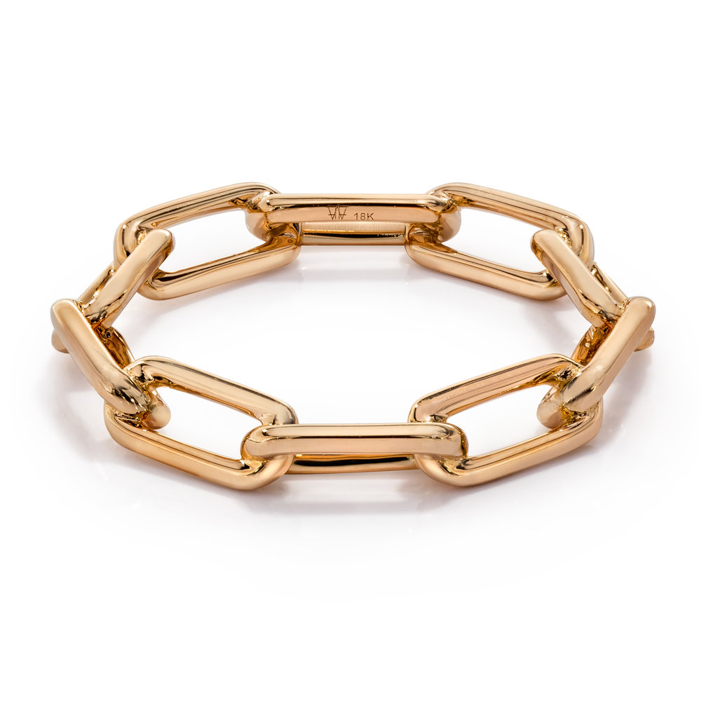 Saxon Rose Gold Chain Link Ring
