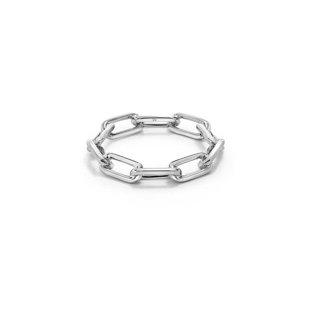 Walters Faith Saxon 18K Large All Diamond Chain Link Ring Silver AsFKf8oH
