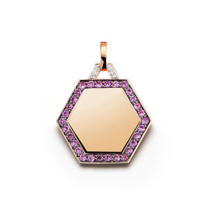 Dora 18k pink sapphire hexagon pendant walters faith dora 18k pink sapphire hexagon pendant audiocablefo light ideas
