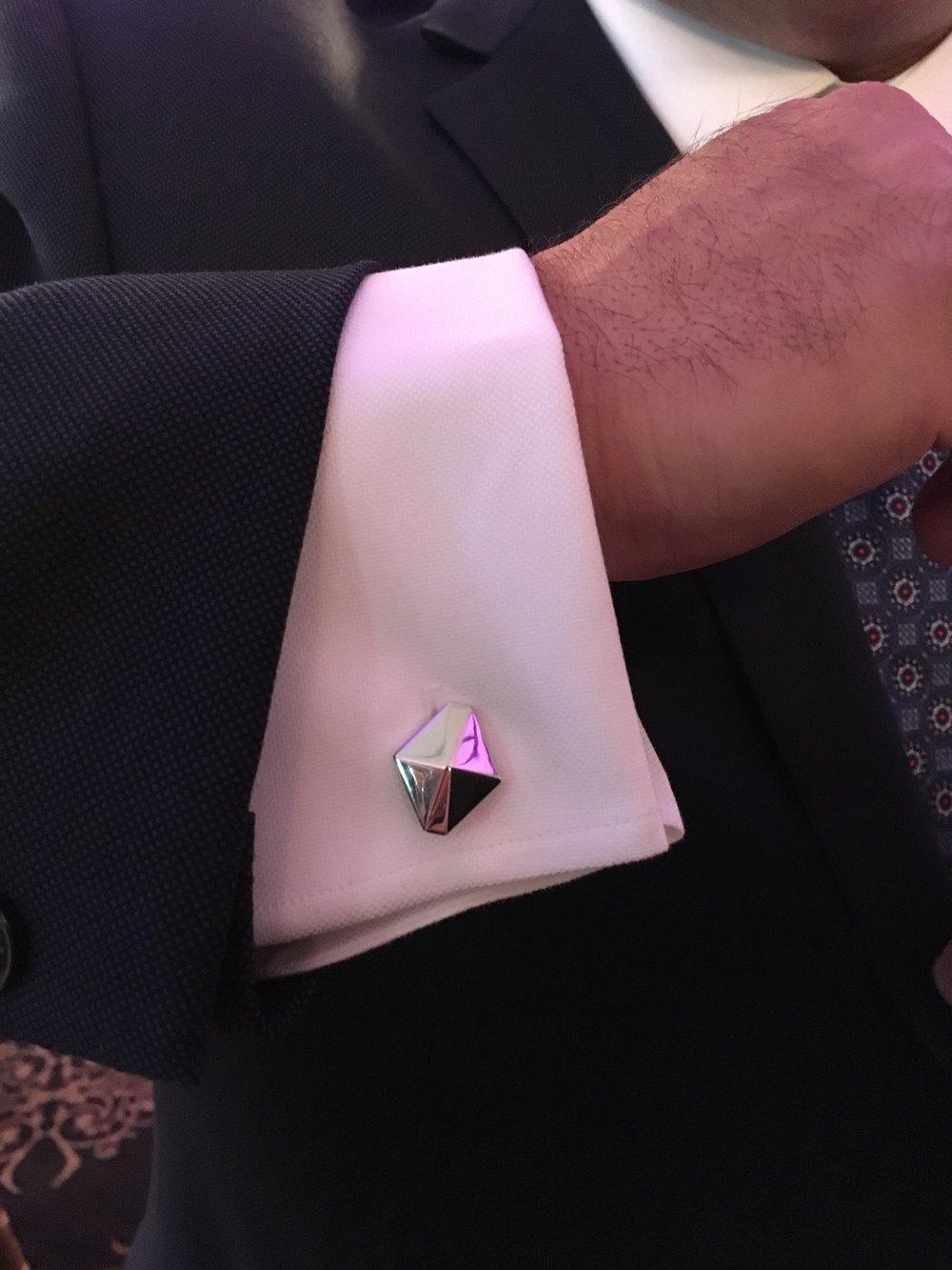 Walters Faith Sydney Origami Cufflinks Sterling silver 7ReG1oxHTp