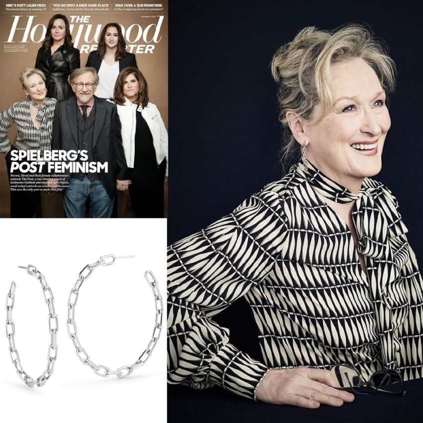MERYL STREEP ON THE COVER OF THE HOLLYWOOD REPORTER | DECEMBER 2017