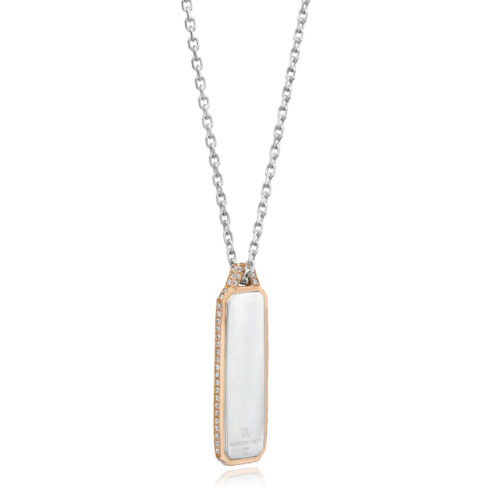 Walters Faith Dora 18K Diamond Tablet Pendant