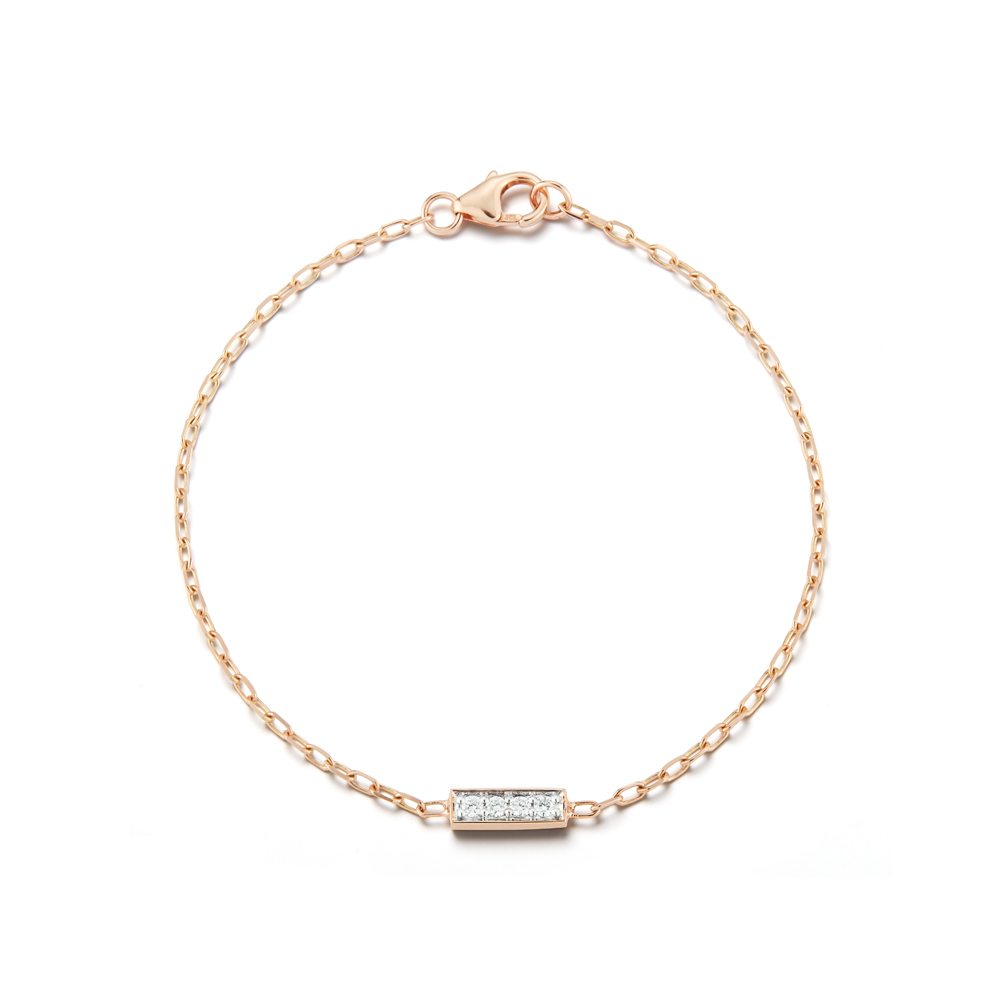 Walters Faith Grant 18K Rose Gold And Diamond Bar Bracelet 9lpmqrFrc