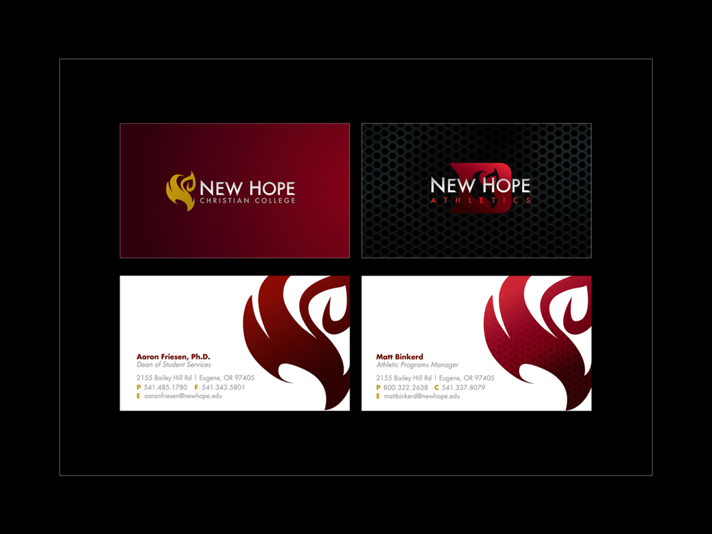 Kainalu design nhcc admin athletics business cards reheart Images