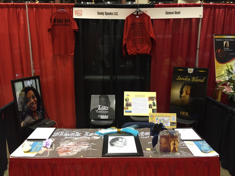 The Sandy Speaks booth at the 2016 Black Women's Expo