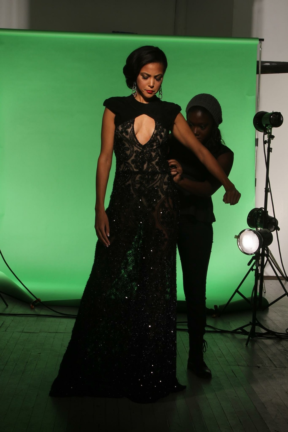 Bell-Price styling for a photoshoot.