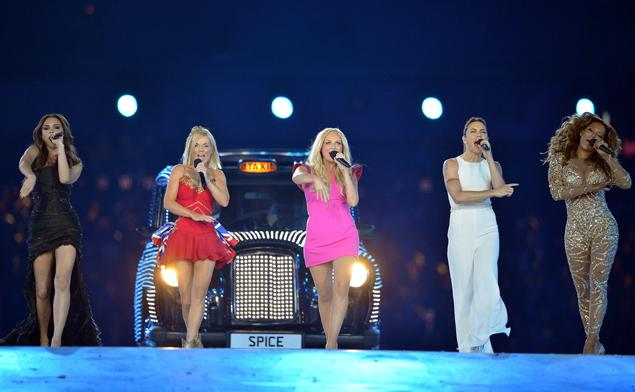The Spice Girls during the 2012 Olympics