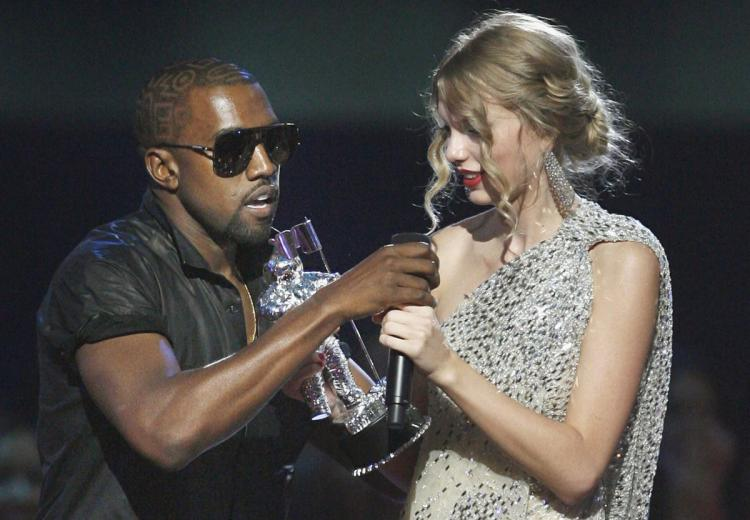 The 2009 MTV Video Music Awards where Kanye interrupts Swift's speech. This is the incident he references in 'Famous'.