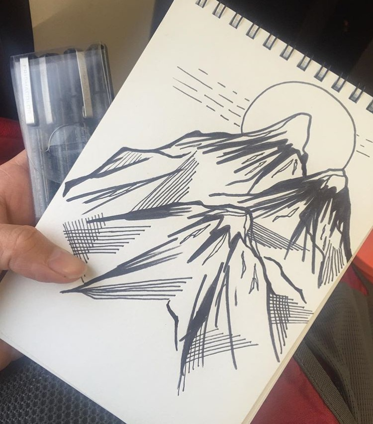 A sketch pad drawing done by Zapata (Photo Source: Instagram)
