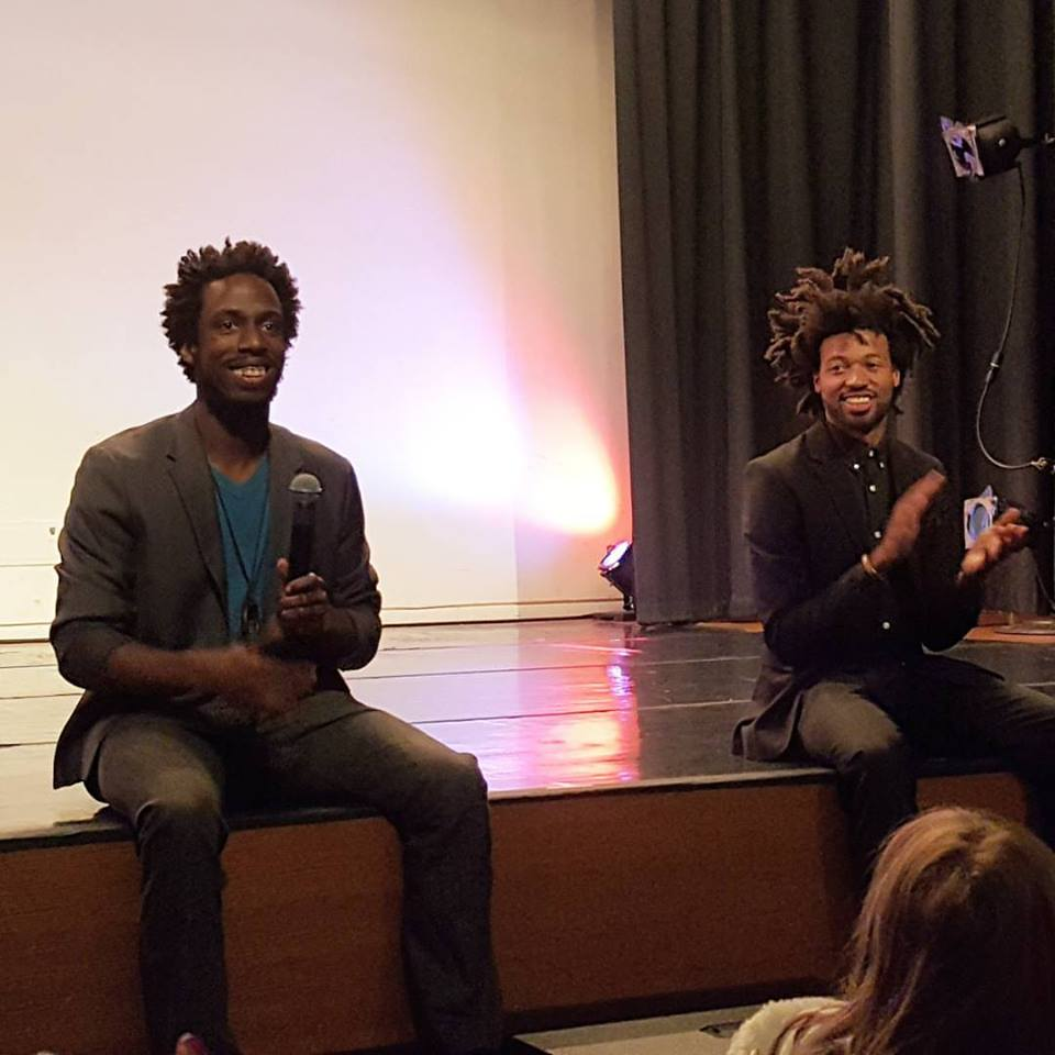 Joshua L. Ishmon (left) and Sam Trump (right) enjoying the crowd during the Q&A (Photo Source: Facebook).