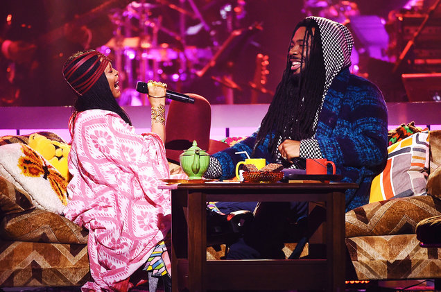 """Erykah Badu and D.R.A.M performing """"WiFi"""". Badu also acted as host of the show."""