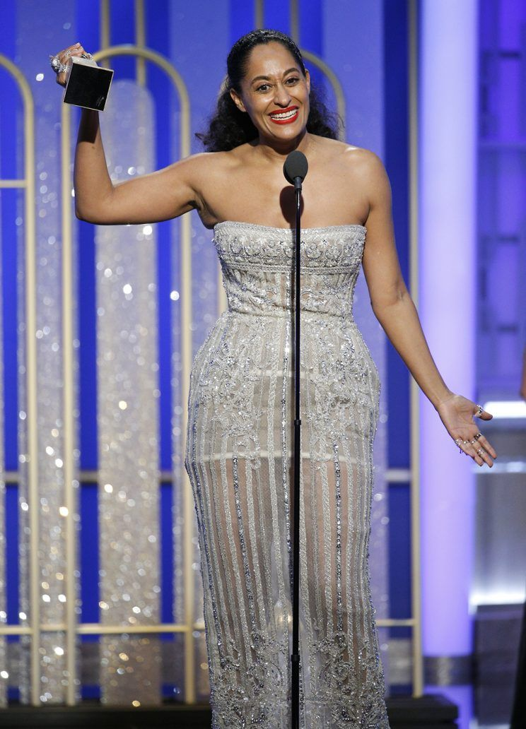 Ellis accepting her Best TV Comedy/Musical Actress award.