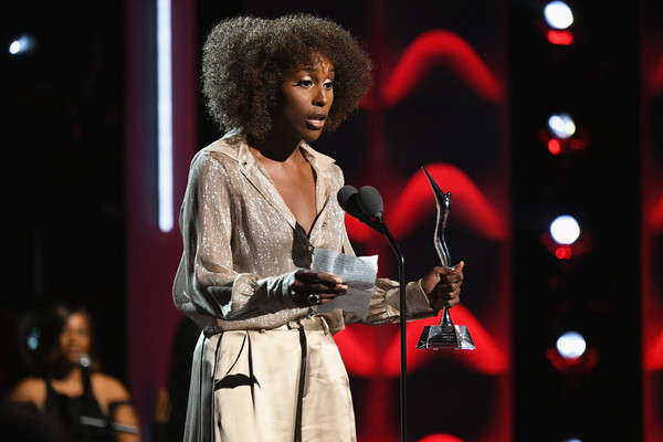Issa Rae accepting her award and making the crowd laugh with humorous and relatable acceptance speech. (Source: Google)