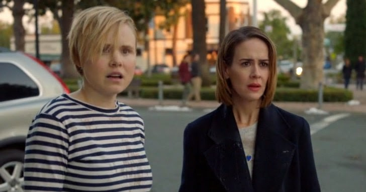 Ally and Ivy (portrayed by Sarah Paulson and Allison Pill) are offended after Kai throws coffee on them. (Source: TV Lover)