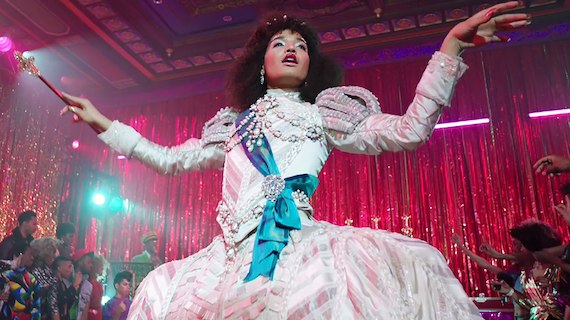 Angel (portrayed by India Moore) shows off her royal presence in the first episode of  Pose. (Source: FX Network).