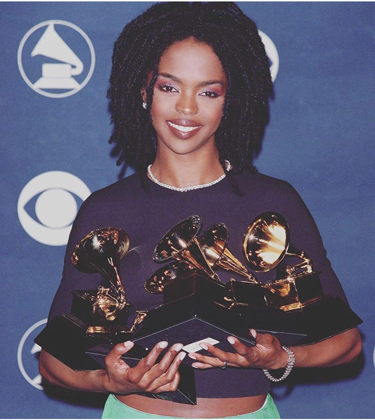 Lauryn Hill after taking home five Grammy awards in 1999. (Source: Instagram).