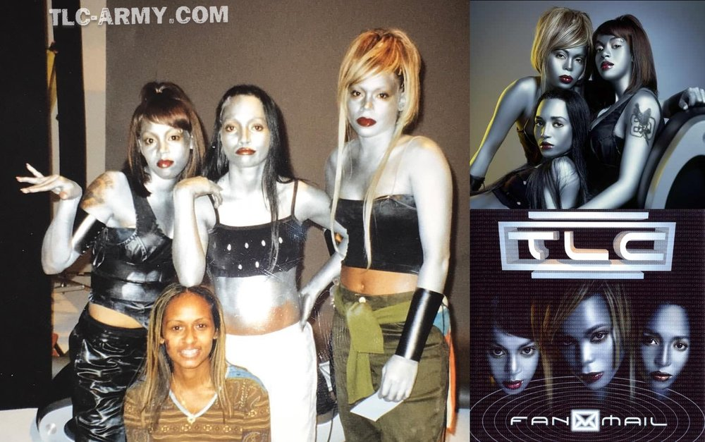 "TLC behind the scenes of the group's album photoshoot. (Source: Google"")"
