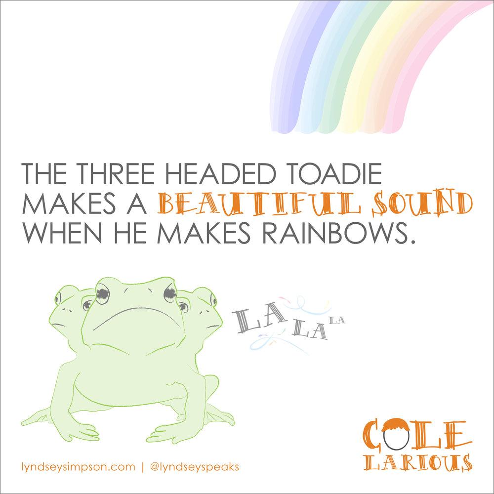 Colelarious Vol. 1 Rainbow Toadie